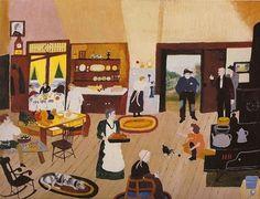 Eagle Bridge Hotel - Grandma Moses - WikiPaintings.org #colours #arts #illustration #painting #naive #fine