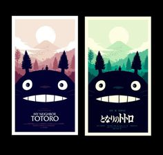 Olly Moss - I worked with Studio Ghibli and Mondo to create... #illustration