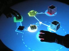 reactable-2hands[detail].jpg 2070×1545 pixels #reactable #photo #foto #music #technology