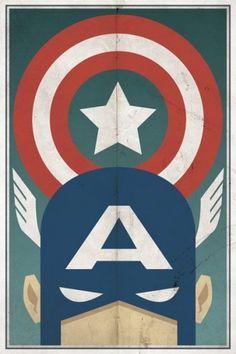25 awesome minimalist superhero posters – Blog of Francesco Mugnai