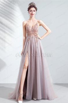 eDressit Spaghetti Beads High Slit Ball Party Dress (36224908)