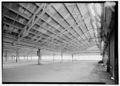Ford Richmond Assembly Plant VIEW TO SOUTHWEST AT NORTH END OF SECOND FLOOR ASSEMBLY AREA. VIEW SHOWS DETAILS OF SAWTOOTH ROOF STRUCTURE. #factories #structure #roofs #architecture #sawtooth