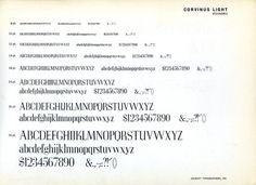 Corvinus was designed by Imre Reiner and released by Bauer in 1929. #typography