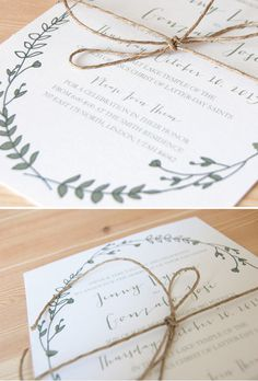 West end girl #invitation #wreath #design #floral #natural #wedding #leaves