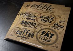 Edible Magazine Cover #lettering #greasy #cover #edible #magazine