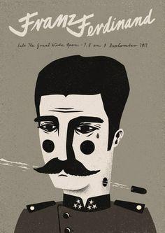 Talkseek - Franz Ferdinand #ryski #talkseek #dawid #screenprint #poster #ferdinand #franz