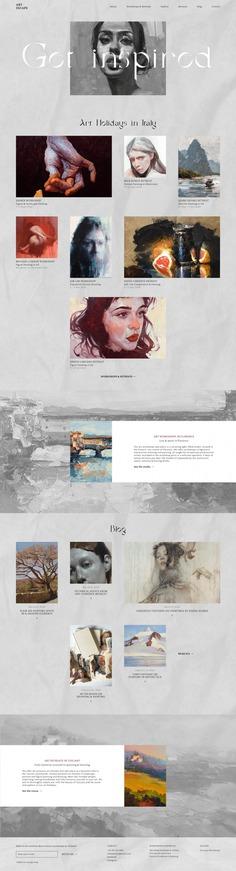 ART ESCAPE VISUAL IDENTITY & WEBSITE