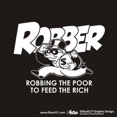 Designersgotoheaven.com - Robbing the poor by... - Designers Go To Heaven #illustration #typography