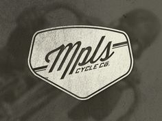 Dribbble - Mpls Cycle Co. Logo - 2 by Dan Behrens #bikes #logo #texture