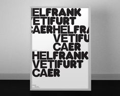 FFFFOUND! | F A M I L Y #type #poster #combo