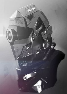Must See Concept Art by Tonatiuh Ocampo #helmet #mech #fi #sci #mechanical #concept #visor #art #cyborg #metal