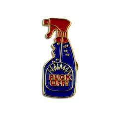 FUCKOFF PIN: Jean Jacket Pins Enamel Pin Handmade Fuck-You