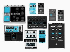 All sizes | Pedals | Flickr - Photo Sharing! #digital #guitar #drawing #pedals