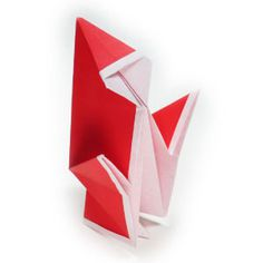 How to make a simple origami Santa Claus II (http://www.origami-make.org/howto-origami-christmas.php)