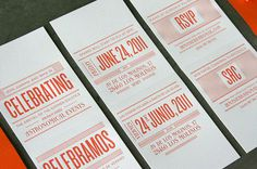 Letterpress Matchbook Invitations for a Summer Wedding