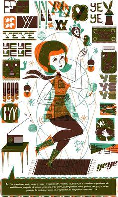 EstudioYeye.Com #mexico #illustration #vintage #yey #poster