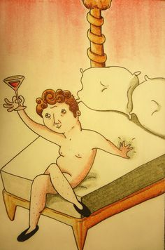 Dionisio #lust #alcohol #ilustration #god #funny