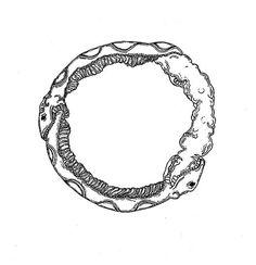 Outer Heaven Vinyl Radial Design #ink #white #smoke #design #black #snake #art #pen #flash