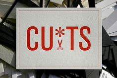 design work life » United Creatives: Cuts #postcard #letterpress
