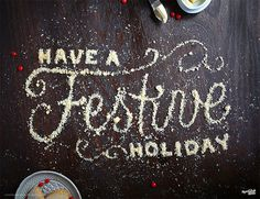 Holiday Greetings. Shortbread. Photographed by The Wonder Jam. #inspiration #type #food #typography