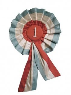 1st prize rosette ribbons from tara badcock at story | Design For Mankind #1st #vintage #prize #ribbon