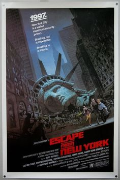 Movie Poster Monday 2: ESCAPE FROM NEW YORK - Signalnoise.com #poster