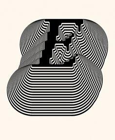 Siggi Eggertsson | E #lines #pattern #letter #illustration #siggi #e #eggertsson #psychedelic #typography