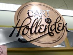 Cart at Hollenden on the Behance Network #signage #logo