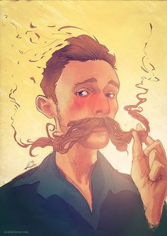 Happy Movember! Celebrate with Mustache Portraits from Ricardo Bessa #movember #illustration #portrait