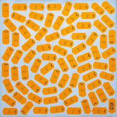Price Tags Pasted On Canvas by BL67   PICDIT #design #art #mixed #canvas #media