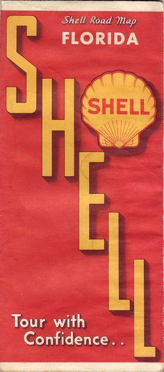 1934 Shell Road Map | Flickr   Photo Sharing!