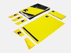 aditia djayasudarma — graphic design & typography #printed #branding #yellow #newspaper #identity #minimal #namecard #typography