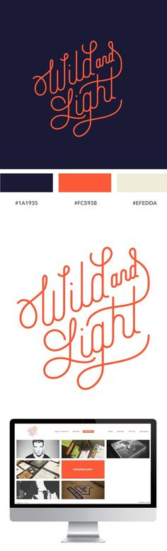 Wild and Light Branding and Web Design by ... | Branding #logotype #colors #identity #palette