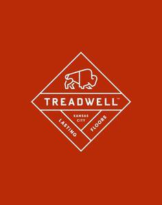 Treadwell_Crest #logo #buffalo #identity #bison