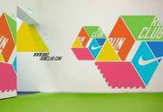 Nike Run Club ― graphic design & imagery ― by Khanh Ly #graphic design #geometric #interior #color #nike