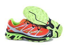 Salomon S-LAB XT5 Orange Light Green Running Shoe #fashion