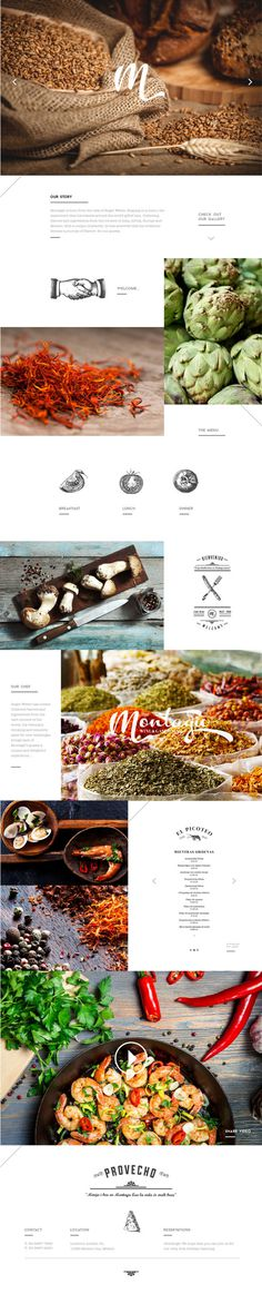 Montagxc3xbc on Behance #web #mexico #restaurant #site
