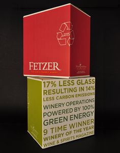 Fetzer Vineyards Wine Shipper California #packaging #wine #boxed