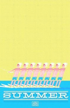 jakeasloan #illustration #water #summer #oklahoma #ski #farewell summer