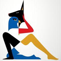 Malika Favre — Egyptian #graphic #bold #favre #malika #poster #egyptian