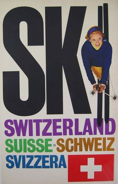 Ski Switzerland Travel Poster designed by Ski Switzerland Travel Poster desigend by
