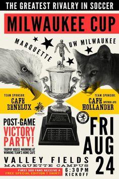 Milwaukee Cup By Rev Pop #milwaukee #pop #design #soccer #advertising #starr #poster #rev #scott #marquette
