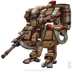 Robots: Hephaestus' Anvil #robot #fantasy #sci-fi #wwwkeiththompsonartcom