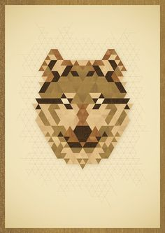 A Wolf #illustration #poster #wood #wolf
