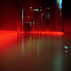 Blood on the dance floor | Flickr - Photo Sharing! #interior #light #red #hall