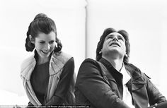 Empire Strikes Backstage: Intimate pictures of cast and crew during filming of 1980 Star Wars movie   Mail Online #hans #solo #princess #wars #leia #star