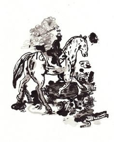 cowboy drawing | Flickr - Photo Sharing! #horse #illustration #drawing #cowboy