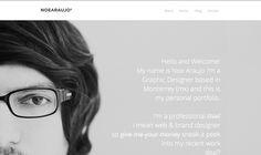 My personal portfolio www.noearaujo.com #portfolio #design #gray #web #love