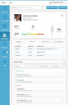 Clinical Dashboard #design #clean #ui #data #beautiful
