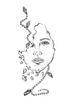 Pearls & Diamonds , Pencil on paper format A3 #illustrations #polska #victim #artis #design #poland #logo #project #illustrator #fashion #pencil #death #grey #suda #pearls #mateusz #ilustracja #vanitas #mateuszsudacom #art #drawing